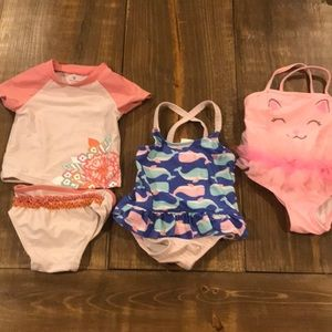 Bundle of 3, girls swimsuits